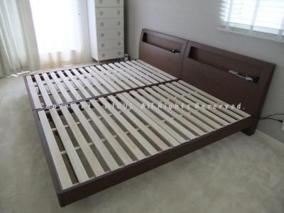 ベルメゾン 棚付きすのこベッド