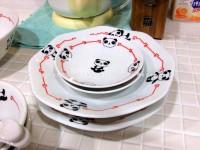 パンダ 八角皿と小皿